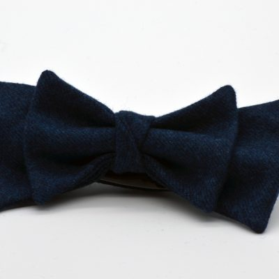 Arsenic Blue Double Butterfly with a Twist Bow Tie
