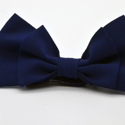 Blue Double Jumbo Butterfly Bow Tie