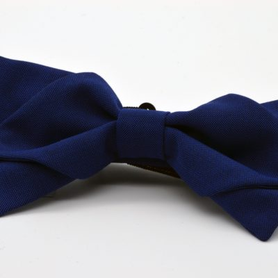 Indigo Blue Diamond Point Bow Tie
