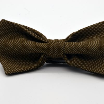 Bird's Eye Light Brown Butterfly Bow Tie