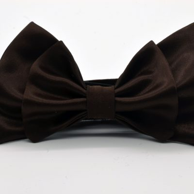 Brown Double Butterfly Bow Tie