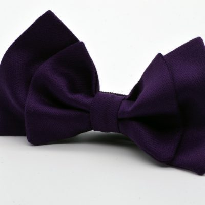 English Violet Double Butterfly Bow Tie