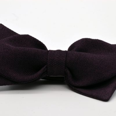 Purple Taupe Diamond Point Bow Tie