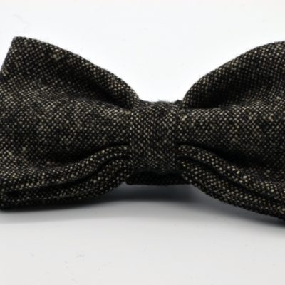 Tweed Brown Olive Butterfly Bow Tie