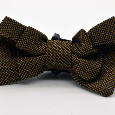 Bird's Eye Light Brown Double Butterfly Boy's Bow Tie