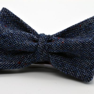 Blue Tweed Butterfly with a Twist Bow Tie