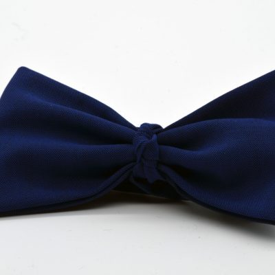 Indigo Blue Butterfly with a Knot Bow Tie