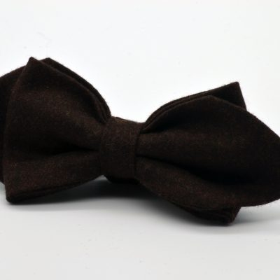 Dark Brown Asymmetrical Diamond Point Bow Tie