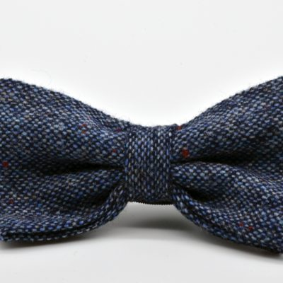 Blue Tweed Butterfly Bow Tie